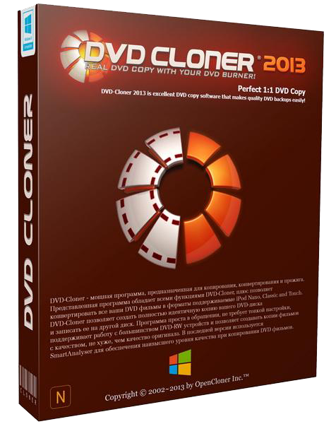 Сайт программы: www.dvd-cloner.com Платформа: Windows 8, 7, Vista and XP Яз